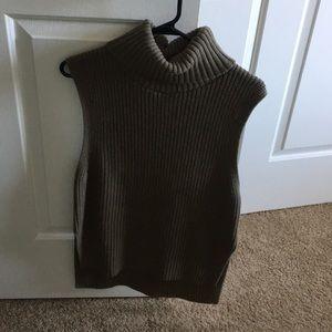 Olive green sweater turtleneck